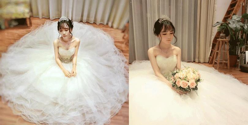 天鹅般的婚纱